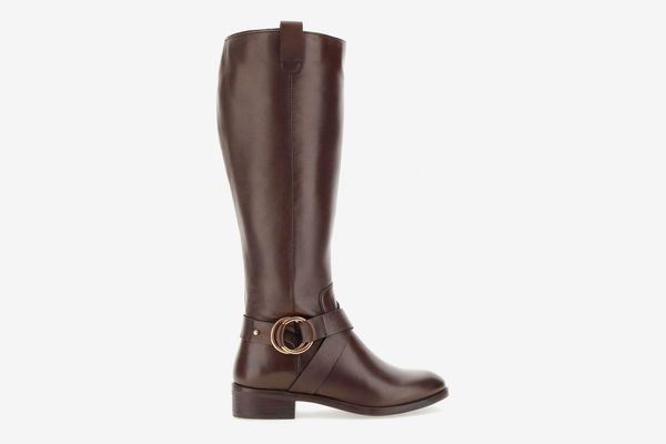 Simply Be Maggie Leather Knee High Boots