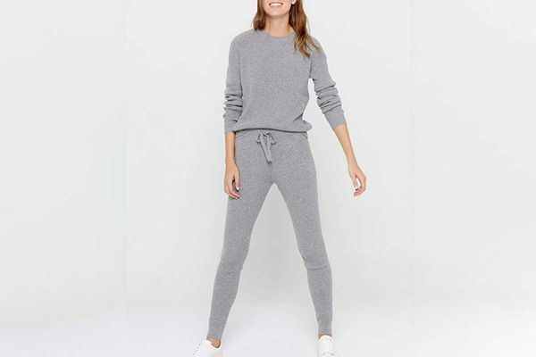 State Cashmere Knitted Loungewear Pants with Pockets
