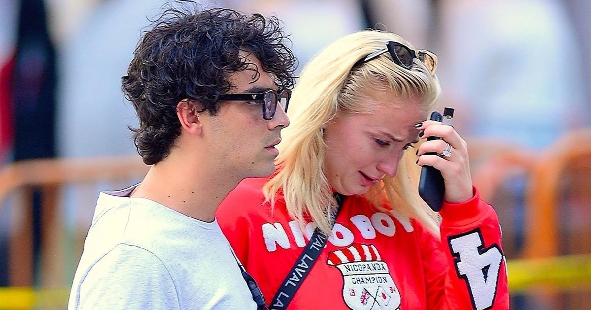 New York, NY  - *EXCLUSIVE* Could it be wedding stress? Sophie Turner is seen crying as she is spotted on a walk with fiance Joe. The couple were spotted on an afternoon outing arm in arm and Joe appeared to be comforting her. It was unclear what could be causing Sophie distress, the engaged pair were spotted earlier the same day laughing and joking with photographers.</body></html>