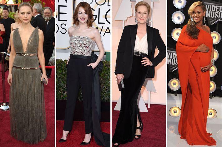 Natalie Portman, Emma Stone, Meryl Streep, and Beyoncé in Lanvin.