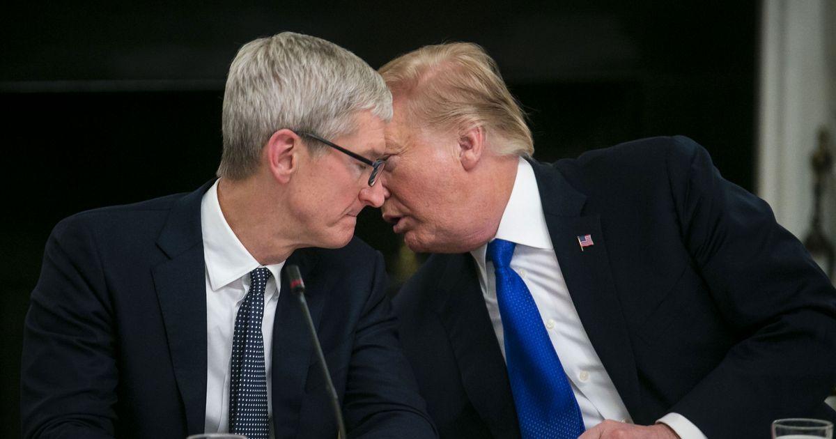 Trump Denies Calling Tim Cook 'Tim Apple.' It Happened on TV.
