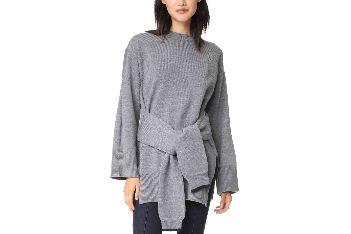J.O.A. Tie-Front Sweater
