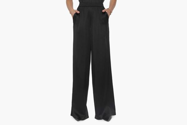 Anine Bing Romy Wide Leg Silk Pants