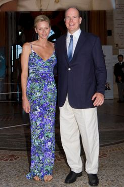 Charlene with husband Prince Albert II