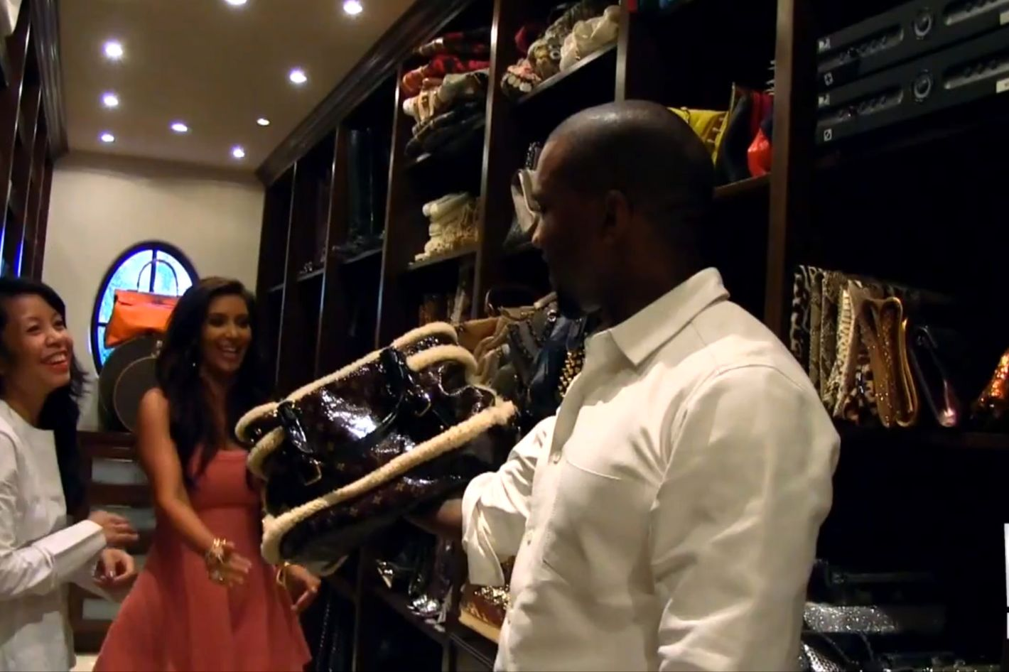 Attractive U0027Fashion Designeru0027 Kanye West Gives Kim Kardashian A Full Clothing Makeover  So She Can Be U0027More Of An Individualu0027