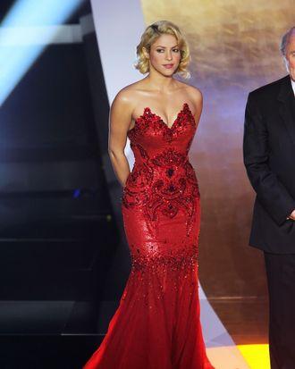 Shakira attends the Golden Ball 2010 FIFA Gala 2010 in Zurich, Switzerland.