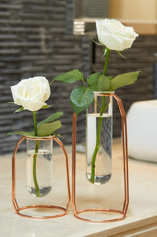 PuTwo Metal Flower Vase, Set of 2