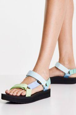 Teva Midform Universal Chunky Sandals in Green Multi