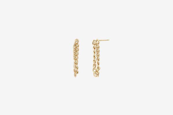 Mejuri Curb Chain Earrings