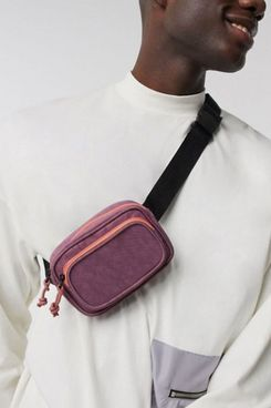 ASOS Design Cross Body Mini Fanny Pack in Purple and Pink
