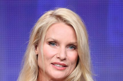 Actress Nicollette Sheridan speaks during the 'Honeymoon for One' panel during the Hallmark portion of the 2011 Summer TCA Tour at the Beverly Hilton on July 27, 2011 in Beverly Hills, California.