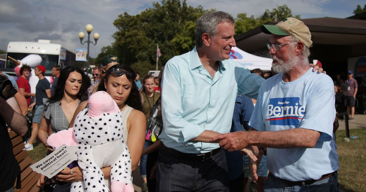 Bill de Blasio's Aimless Day at the Iowa State Fair