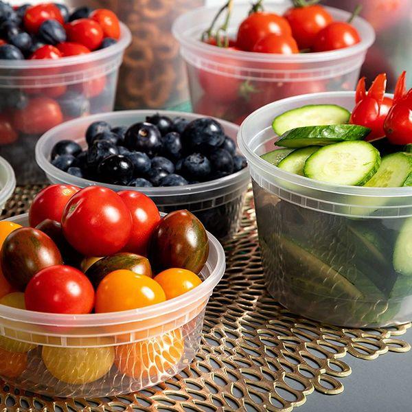 Safeware 8, 16, 32 Oz Deli Plastic Food Containers (40 Sets)