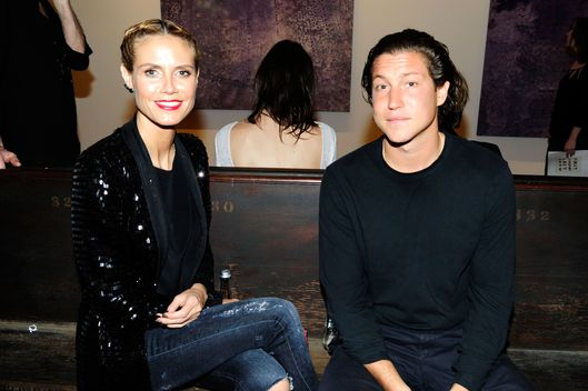 Heidi Klum, Vito Schnabel==First Show Last Show curated by Vito Schnabel==190 Bowery, NYC==May 16, 2015==?Patrick McMullan==Photo - Paul Bruinooge/PatrickMcMullan.com====