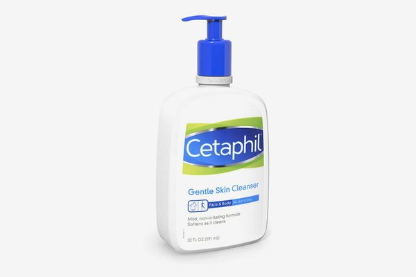 white bottle of cetaphil gentle skin cleanser - strategist best face wash