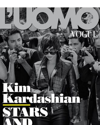 Kim Kardashian for <em>L'Uomo Vogue</em>