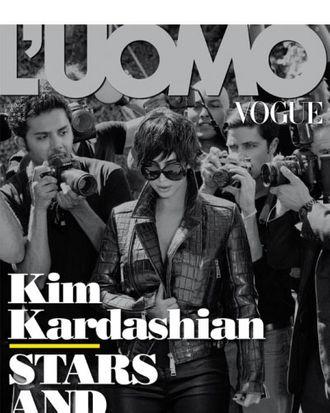 Kim Kardashian for <em>L'Uomo Vogue</em>