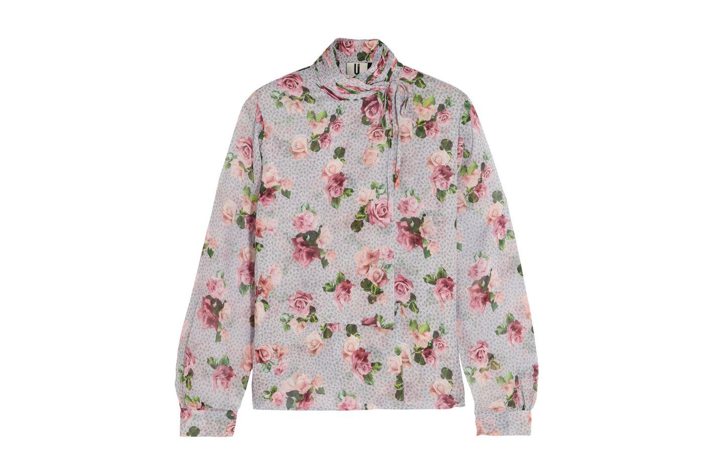 Topshop Unique Aubrey floral blouse