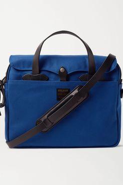 Filson Original Leather-Trimmed Cotton-Twill Briefcase