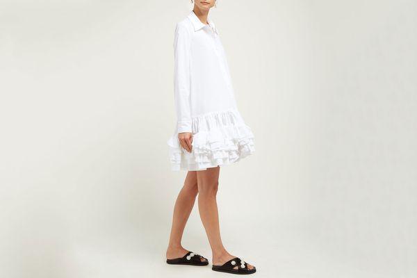 Molly Goddard Annie Ruffled-Hem Cotton Dress