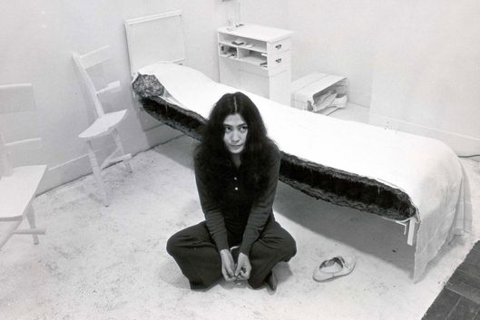 Mandatory Credit: Photo by John Knoote/ANL/REX_Shutterstock (1826235a)Artist Yoko Ono Sitting In Her 'half Bedroom'. (widow Of John Lennon). [ 1/2 Bedroom ].Artist Yoko Ono Sitting In Her 'half Bedroom'. (widow Of John Lennon). [ 1/2 Bedroom ].