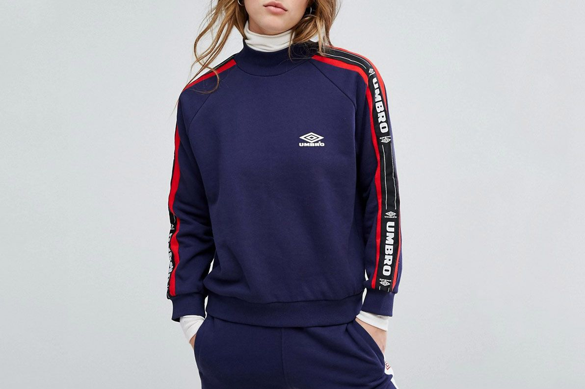 Umbro Oversized High Neck Sweatshirt With Tape Logo