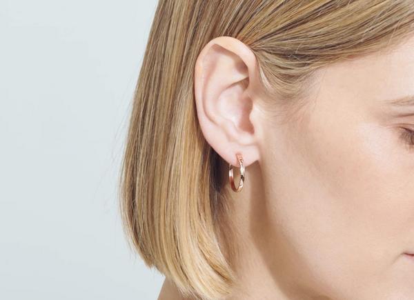 Aurate Medium Hoop Earrings