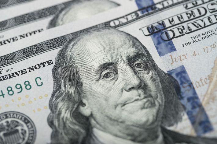 Picture of Ben Franklin Looking Displeased.