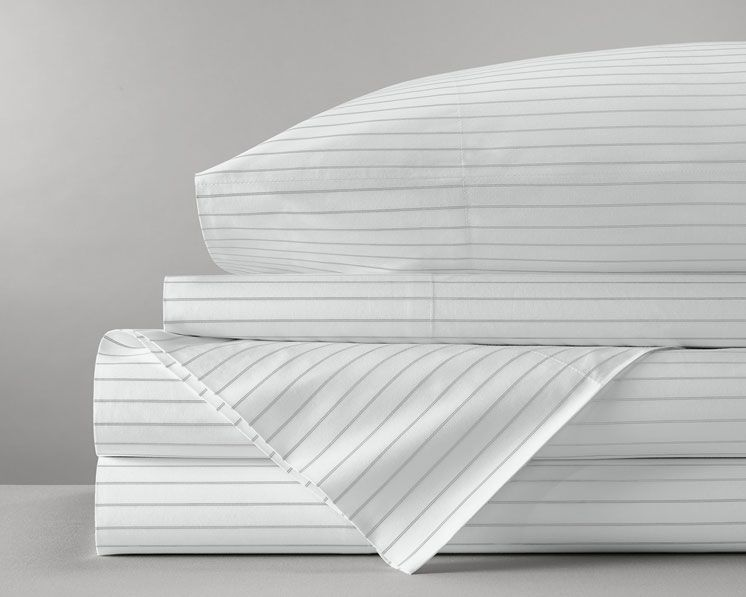 Boll Branch Percale Simple Stripe Sheet Set