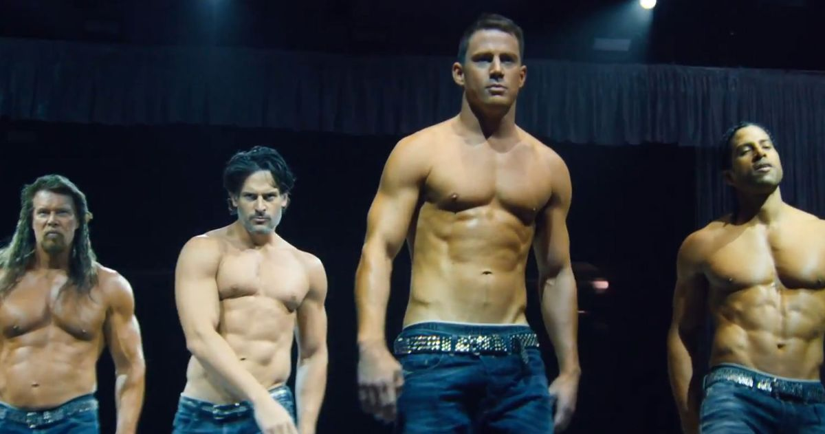 magic mike xxl teaser has abs welding �pony� vulture
