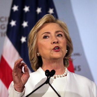Democratic Presidential Candidate Hillary Clinton Delivers National Security Address In New York
