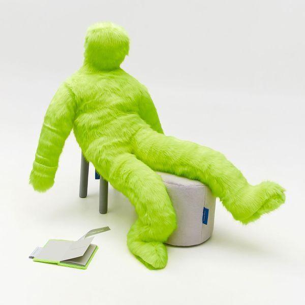 Neon-Green Fur Little Man