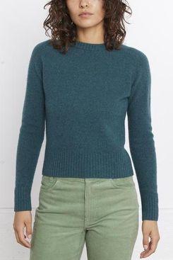 Entireworld Women's Sweater, Type A, Version 10 (Dark Green Melange)