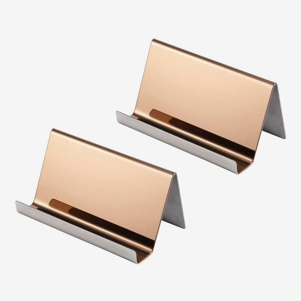 YOSCO Stainless-Steel Business-Card Holder (2 Pack)