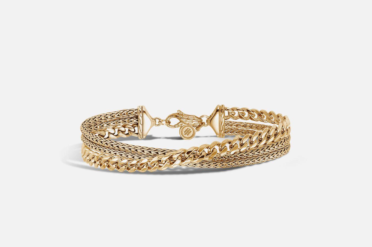Classic Chain Triple Row Bracelet