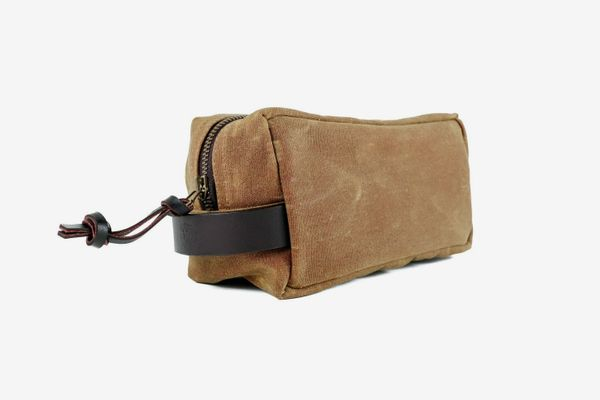J. Stark Clark Waxed Canvas Dopp Kit