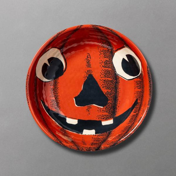 John Derian for Threshold Jack O' Treats Pumpkin Melamine Candy Bowl