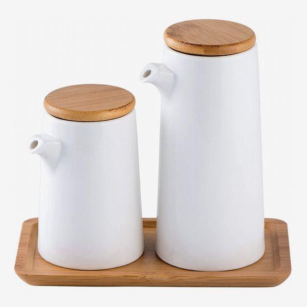 Honey ARGOL Oil and Vinegar Dispenser Bottle Set