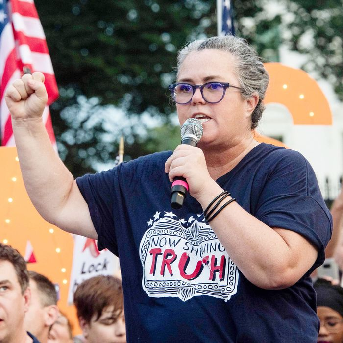 Rosie O Donnell And Broadway Actors Protest Trump