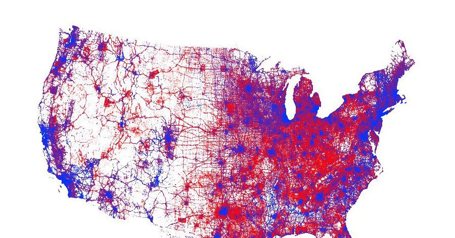Us Population Map 2016 A New 2016 Election Voting Map Promotes … Subtlety