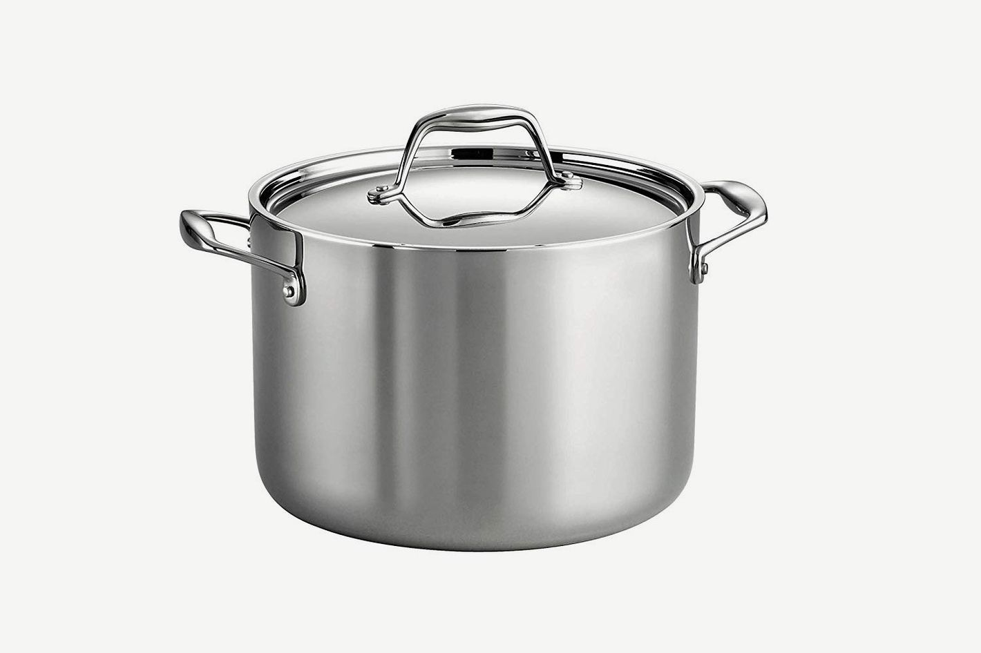 Tramontina 80116/041DS Gourmet 18/10 Stainless Steel Induction-Ready Tri-Ply Clad Covered Stock Pot
