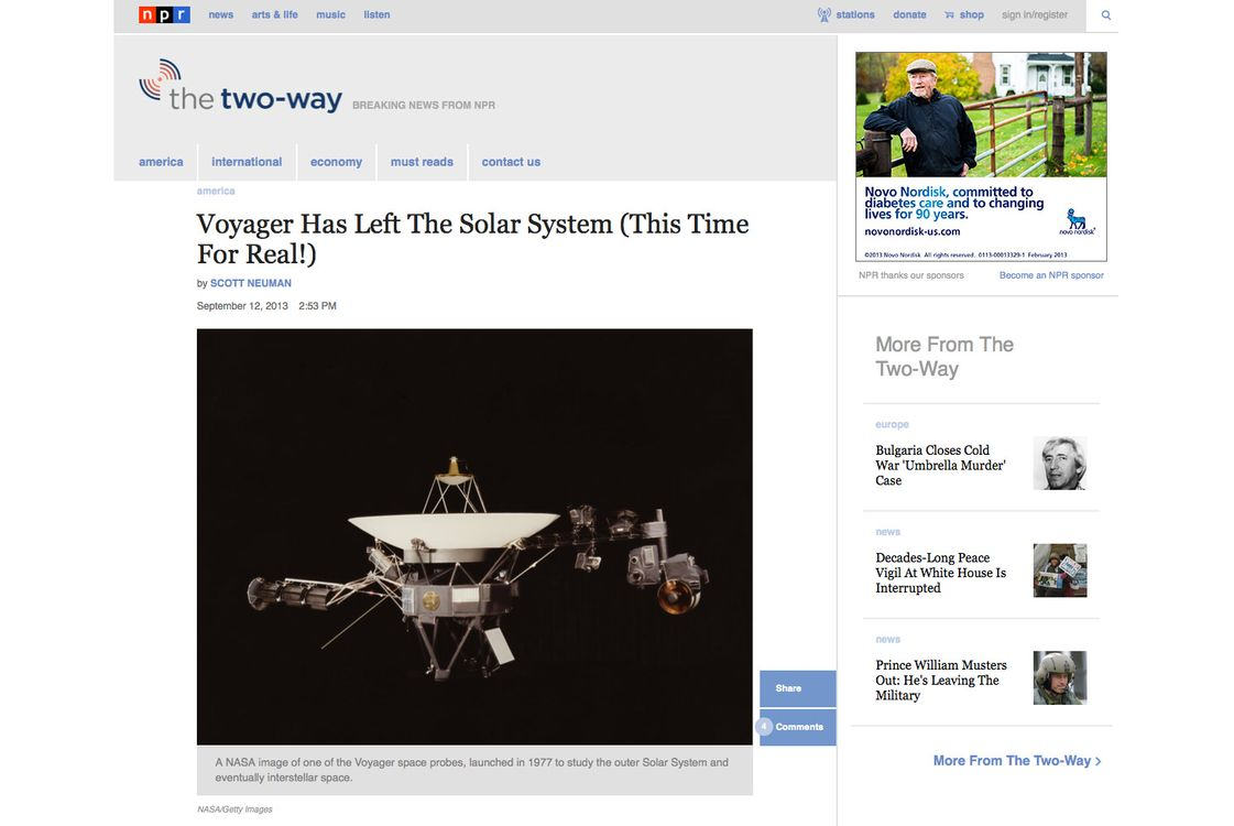 Voyager Has Not Left the Solar System -- NYMag