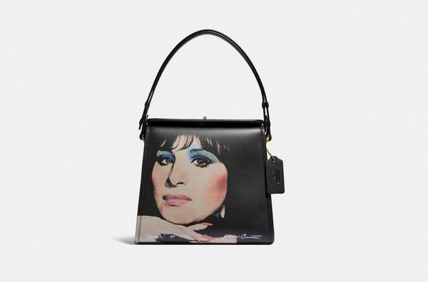 Coach x Richard Bernstein Turnlock Shoulder Bag with Barbra Streisand