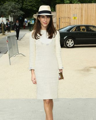 Caroline Sieber at the Chanel couture show.