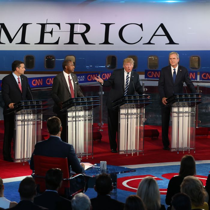 Republican Candidates Take Part In Debates At Reagan Library In Simi Valley