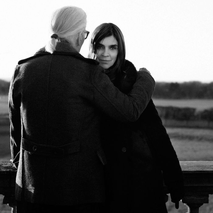 Karl Lagerfeld and Carine Roitfeld, together again at last.