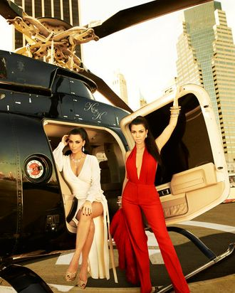 KOURTNEY & KIM TAKE NEW YORK -- Season 4 -- Pictured: (l-r) Kim Kardashian, Kourtney Kardashian -- Photo by: Timothy White/E! Entertainment