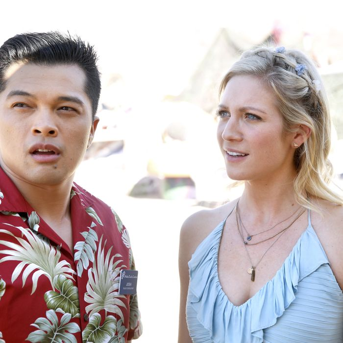 Vincent Rodriguez III as Josh, Brittany Snow as Anna.