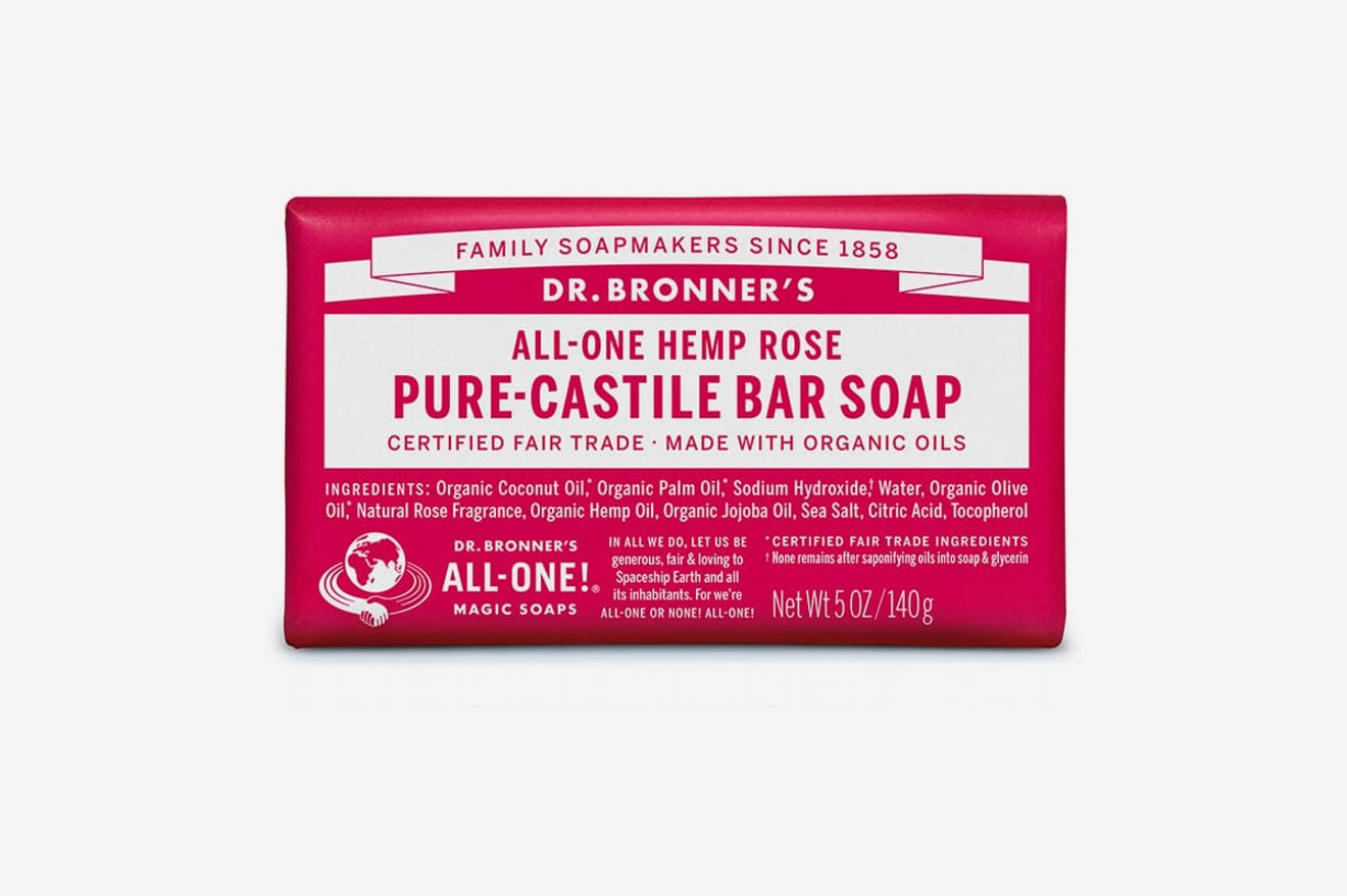 Dr. Bronner's Hemp Rose Castile Bar Soap