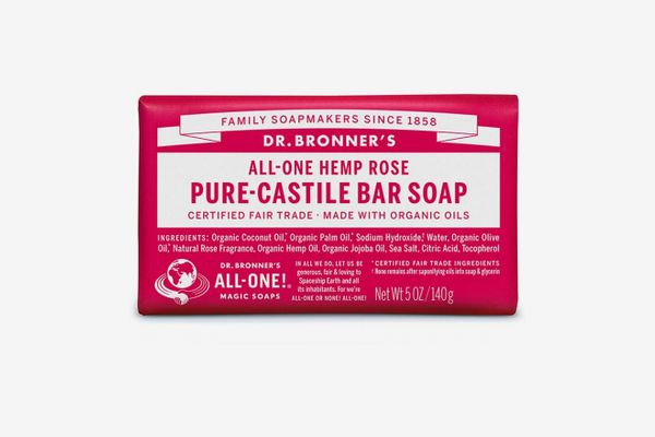 Dr. Bronner's Pure Castile Bar Soap, Rose